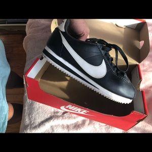 Nike Black Classic Cortez Leather